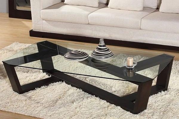 bàn sofa kính cường lực