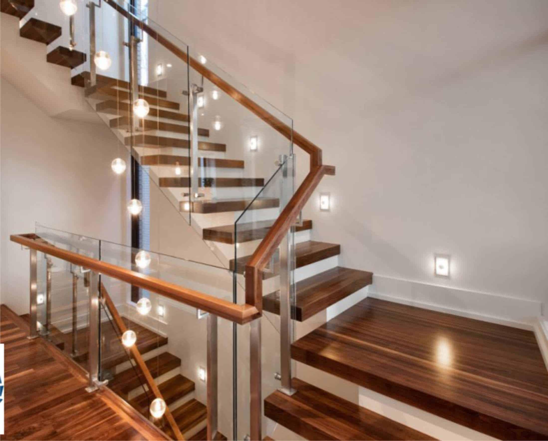 Làm cầu thang gỗ công nghiệp - Cách lắp đặt mặt cầu thang gỗ đúng kỹ thuật