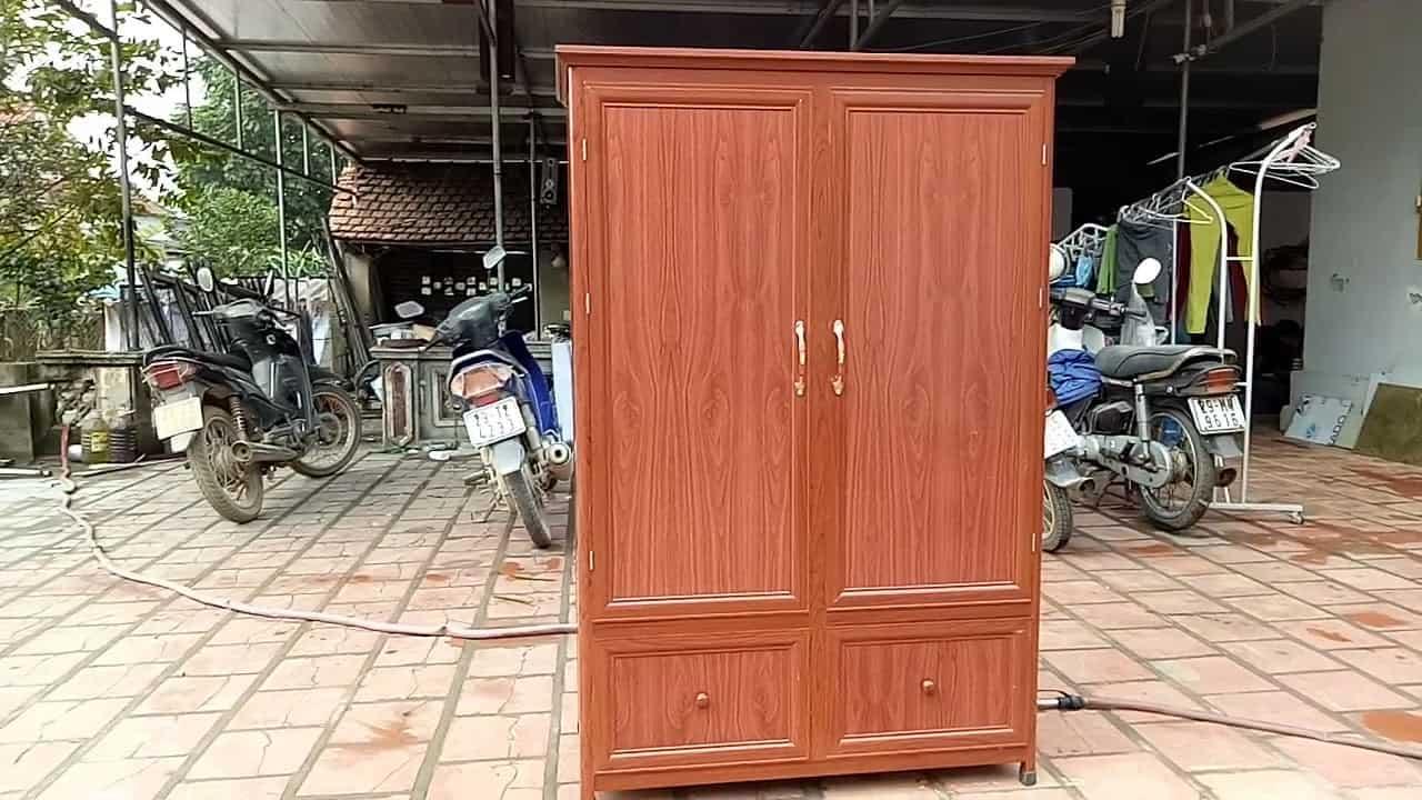 tủ nhôm vân gỗ