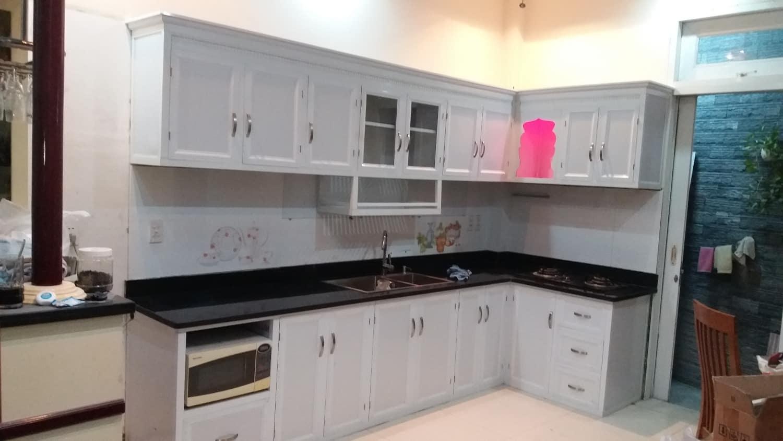 tủ bếp nhôm kính Hai Bà Trưng