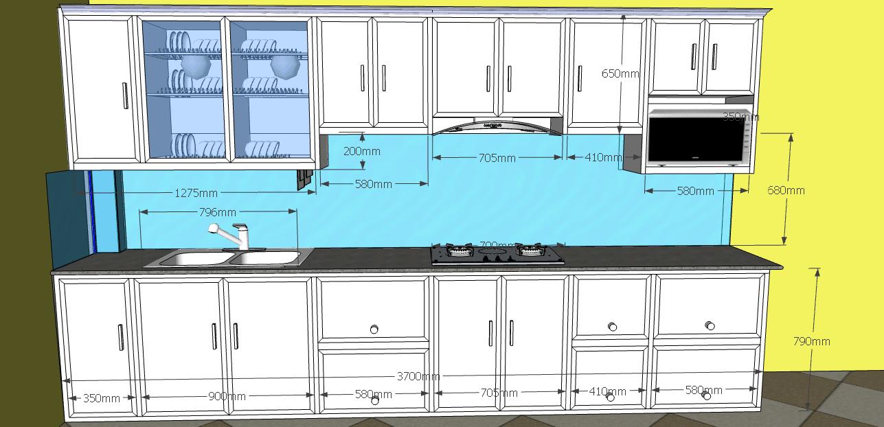 tủ bếp nhôm kính Hoàng Mai