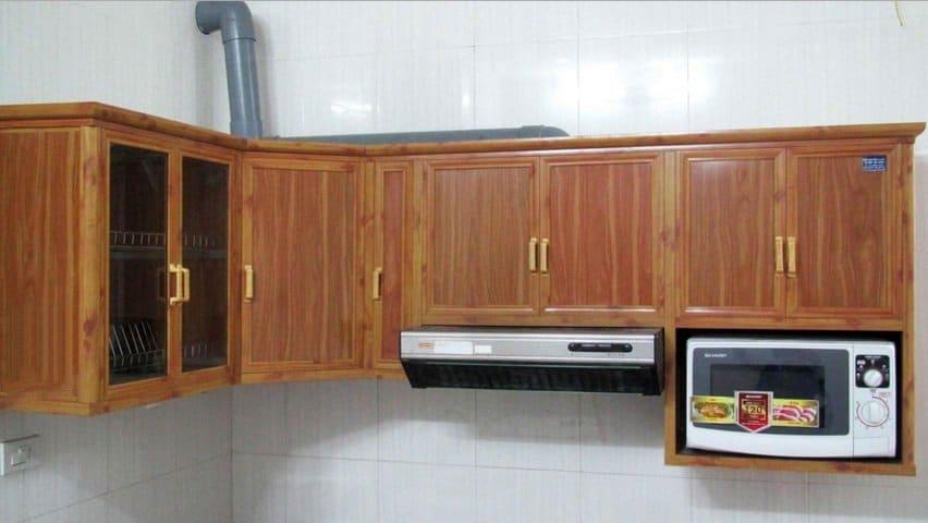 tủ bếp nhôm kính hà đông