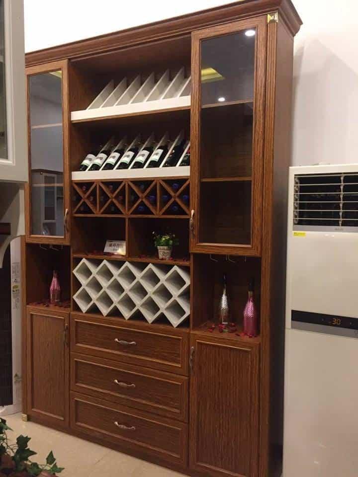 tủ rượu nhôm kính âm tường