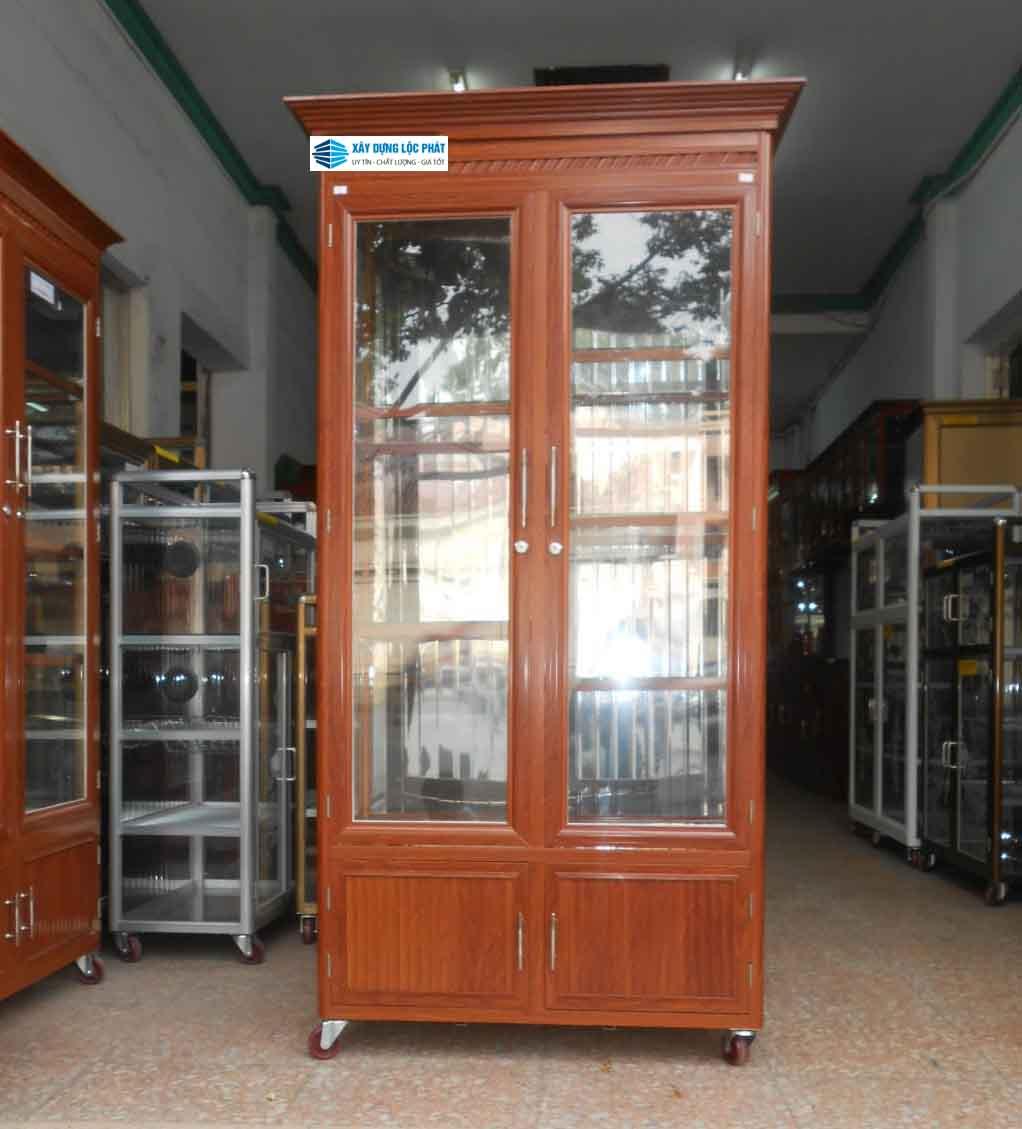 tủ rượu nhôm kính